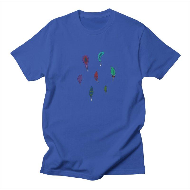 Vibrant Feathers Men's T-Shirt by Svaeth's Artist Shop