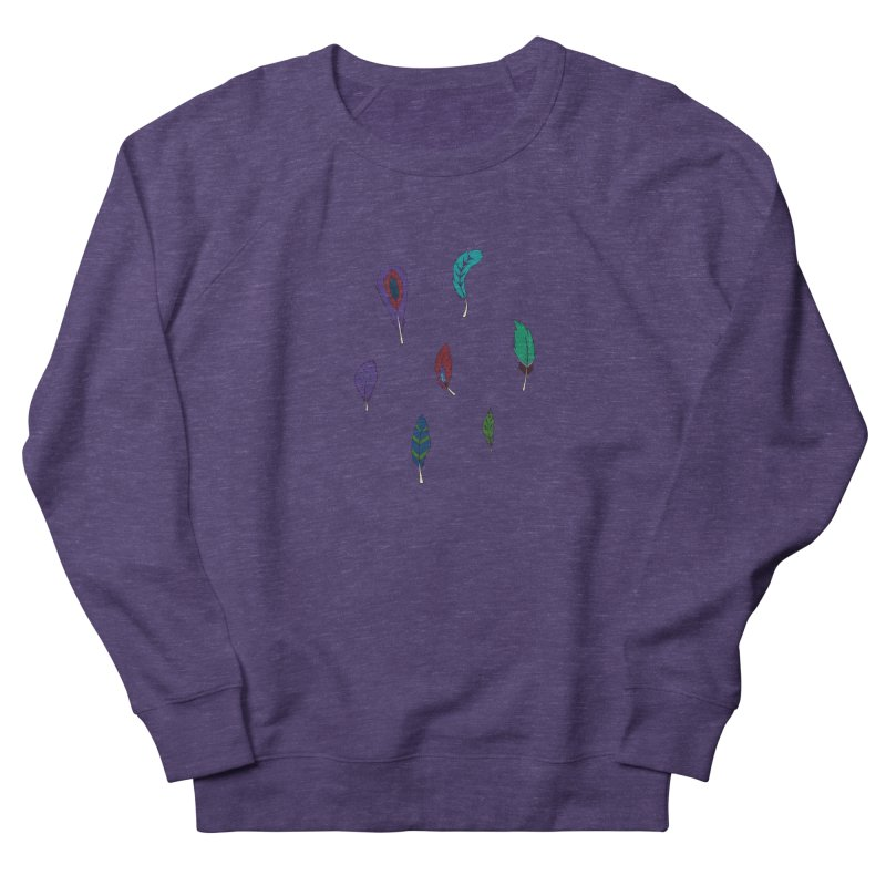 Vibrant Feathers Women's Sweatshirt by Svaeth's Artist Shop