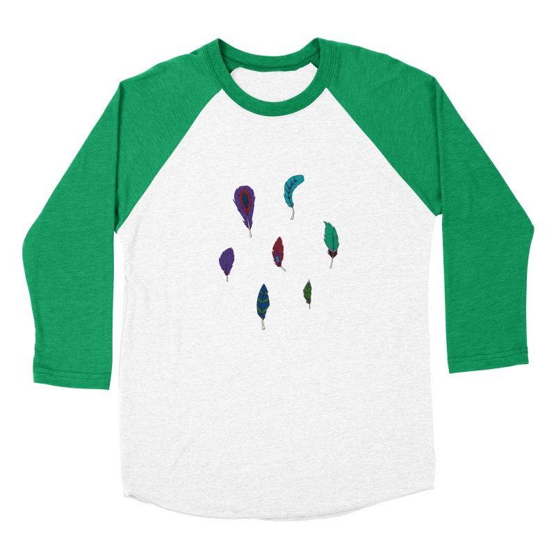 Vibrant Feathers Women's Baseball Triblend Longsleeve T-Shirt by Svaeth's Artist Shop