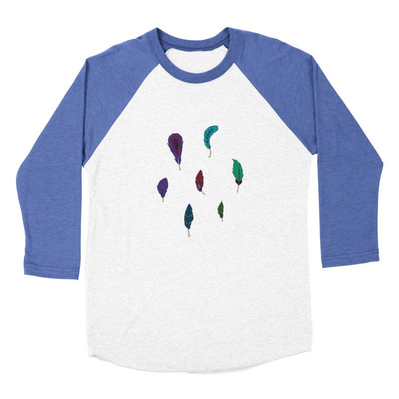 Vibrant Feathers Men's Baseball Triblend Longsleeve T-Shirt by Svaeth's Artist Shop