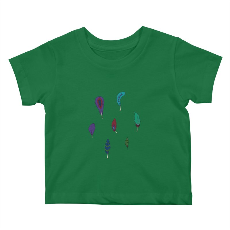 Vibrant Feathers Kids Baby T-Shirt by Svaeth's Artist Shop