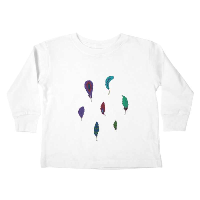 Vibrant Feathers Kids Toddler Longsleeve T-Shirt by Svaeth's Artist Shop