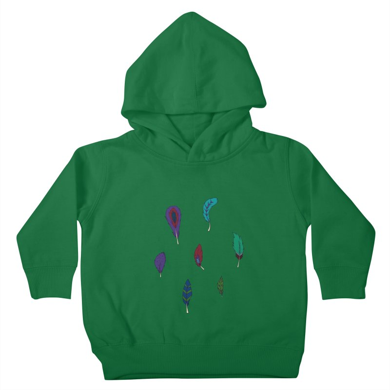 Vibrant Feathers Kids Toddler Pullover Hoody by Svaeth's Artist Shop