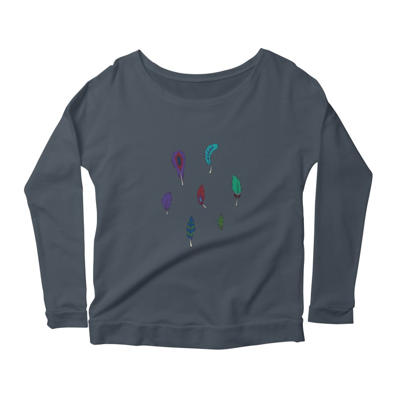 Vibrant Feathers Women's Scoop Neck Longsleeve T-Shirt by Svaeth's Artist Shop
