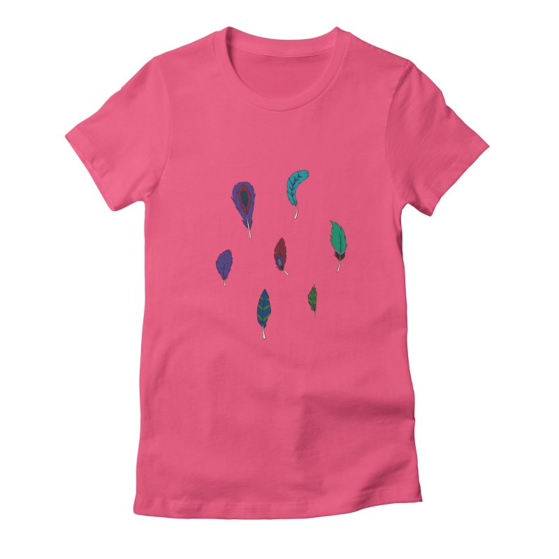 Vibrant Feathers Women's T-Shirt by Svaeth's Artist Shop