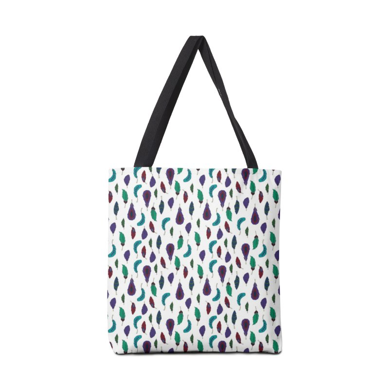 Vibrant Feathers Accessories Tote Bag Bag by Svaeth's Artist Shop