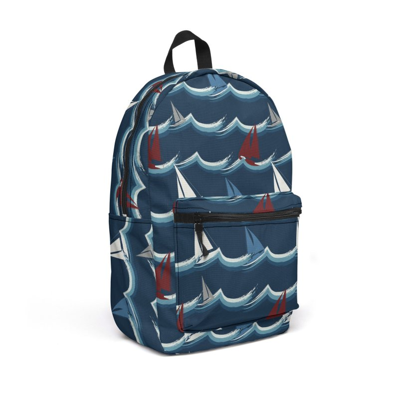 Nautical Sailing Accessories Backpack Bag by Svaeth's Artist Shop