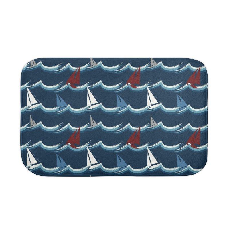 Nautical Sailing Home Bath Mat by Svaeth's Artist Shop