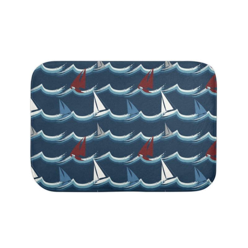 Nautical Sailing Home Bath Mat by Svaeth's Artist Shop
