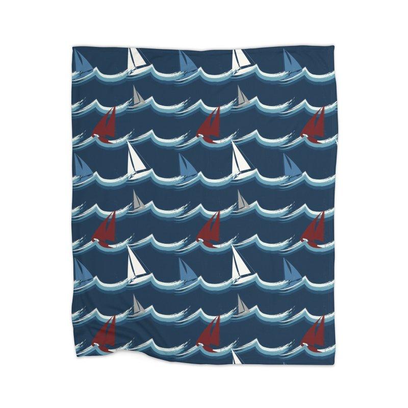 Nautical Sailing Home Blanket by Svaeth's Artist Shop