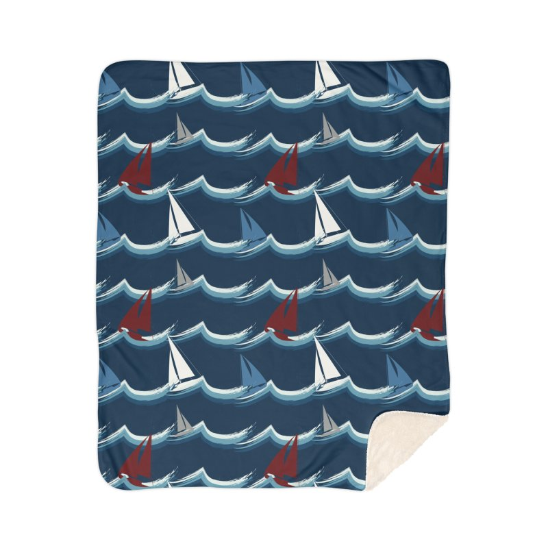 Nautical Sailing Home Blanket by Svaeth's Artist Shop