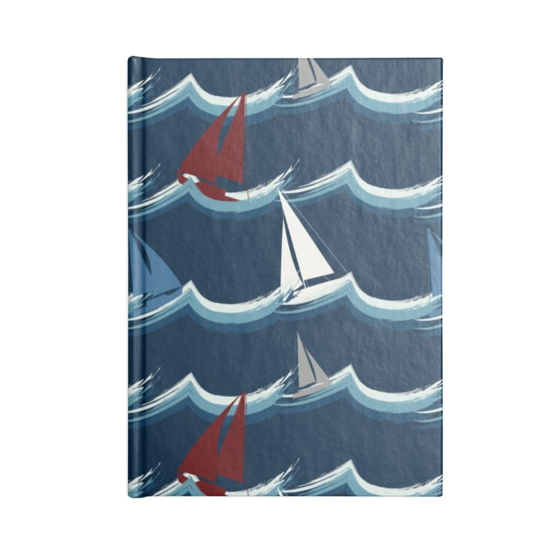 Nautical Sailing Accessories Lined Journal Notebook by Svaeth's Artist Shop