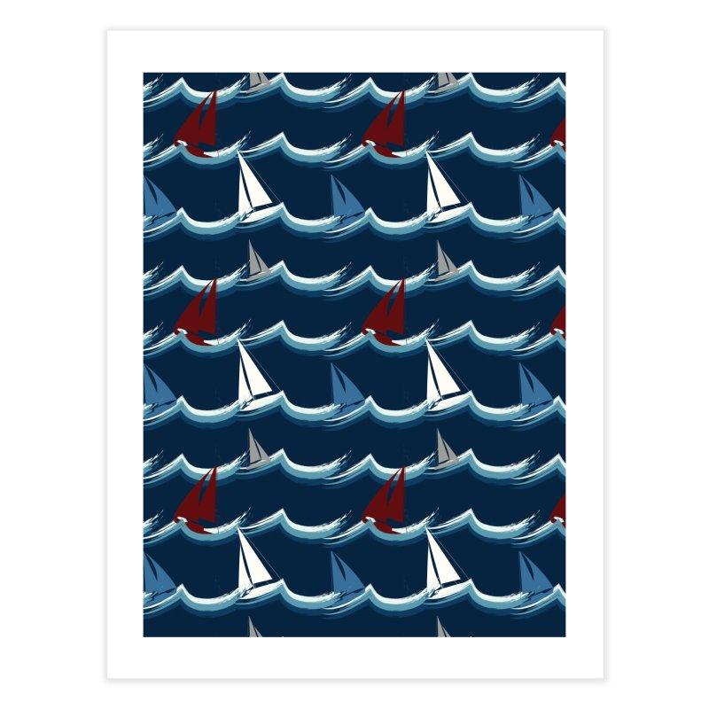 Nautical Sailing Home Fine Art Print by Svaeth's Artist Shop