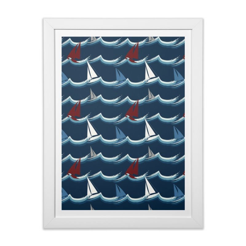 Nautical Sailing Home Framed Fine Art Print by Svaeth's Artist Shop