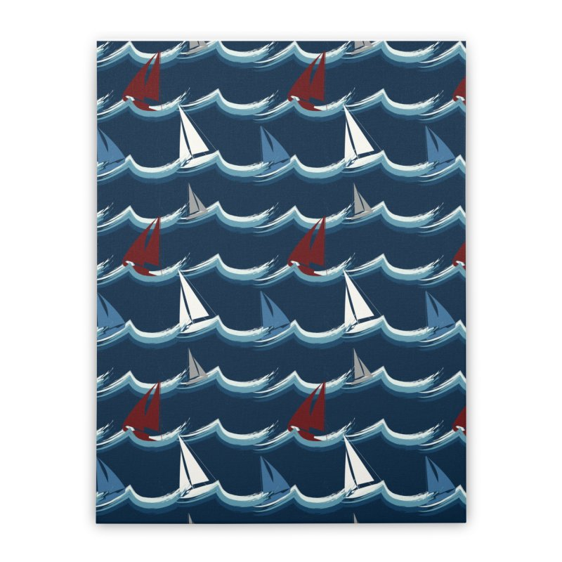 Nautical Sailing Home Stretched Canvas by Svaeth's Artist Shop