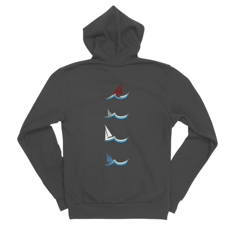 Nautical Sailing Men's Sponge Fleece Zip-Up Hoody by Svaeth's Artist Shop