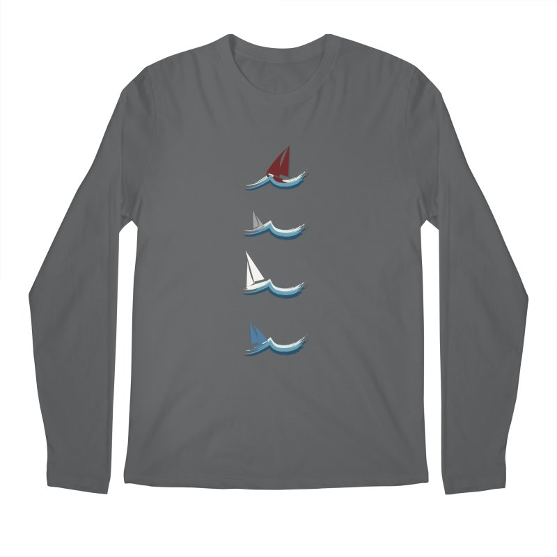 Nautical Sailing Men's Longsleeve T-Shirt by Svaeth's Artist Shop