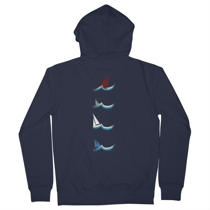 Nautical Sailing Men's Zip-Up Hoody by Svaeth's Artist Shop