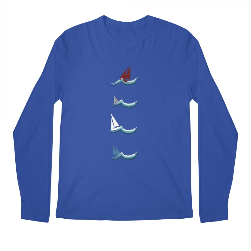 Nautical Sailing Men's Regular Longsleeve T-Shirt by Svaeth's Artist Shop