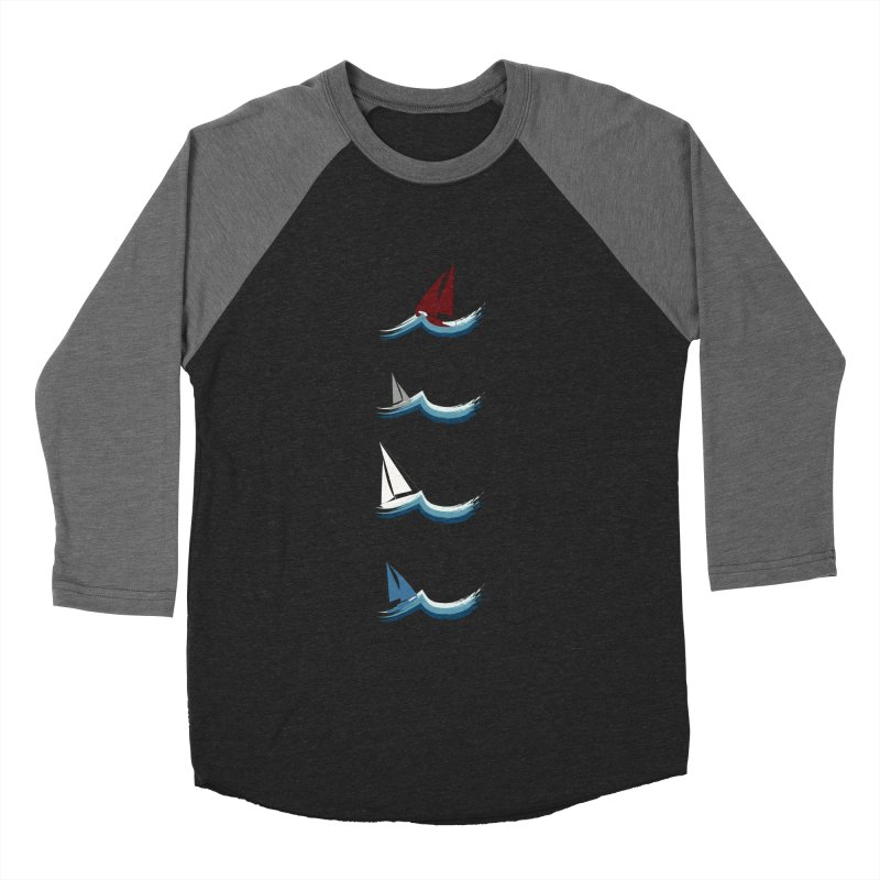 Nautical Sailing Women's Baseball Triblend Longsleeve T-Shirt by Svaeth's Artist Shop