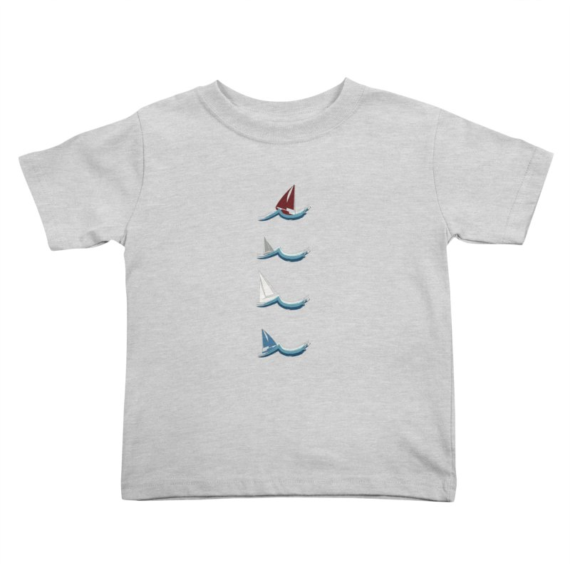 Nautical Sailing Kids Toddler T-Shirt by Svaeth's Artist Shop
