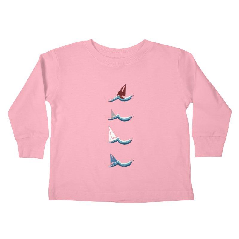 Nautical Sailing Kids Toddler Longsleeve T-Shirt by Svaeth's Artist Shop