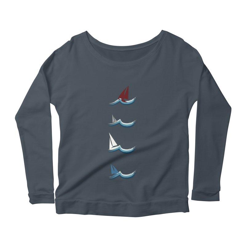 Nautical Sailing Women's Scoop Neck Longsleeve T-Shirt by Svaeth's Artist Shop