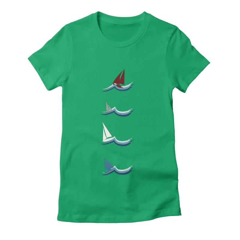 Nautical Sailing Women's T-Shirt by Svaeth's Artist Shop