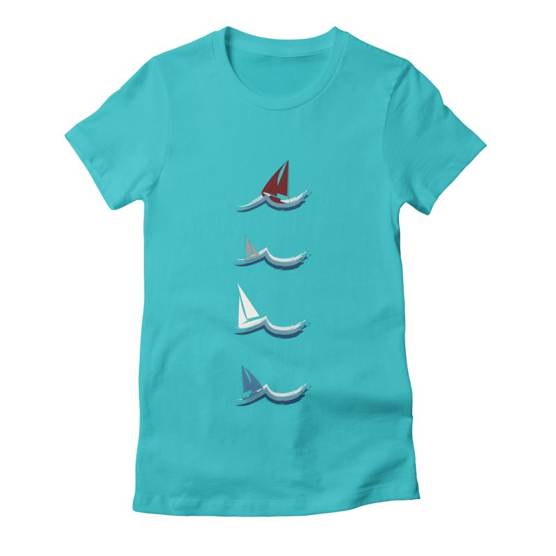 Nautical Sailing Women's Fitted T-Shirt by Svaeth's Artist Shop