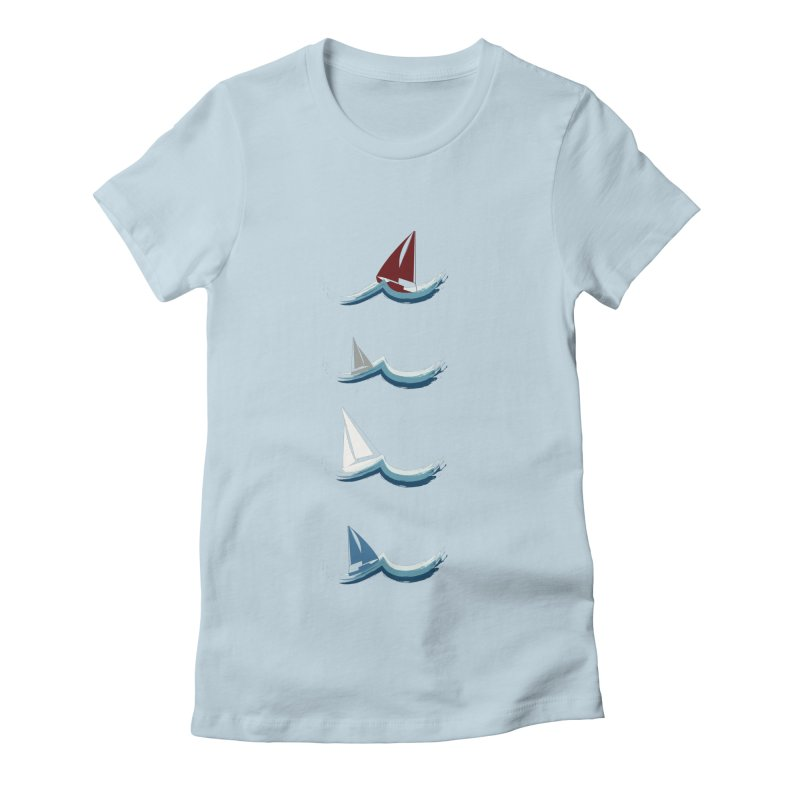 Nautical Sailing Women's T-Shirt by Svaeth's Artist Shop
