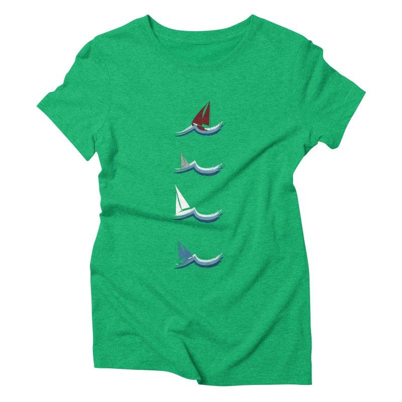 Nautical Sailing Women's Triblend T-Shirt by Svaeth's Artist Shop