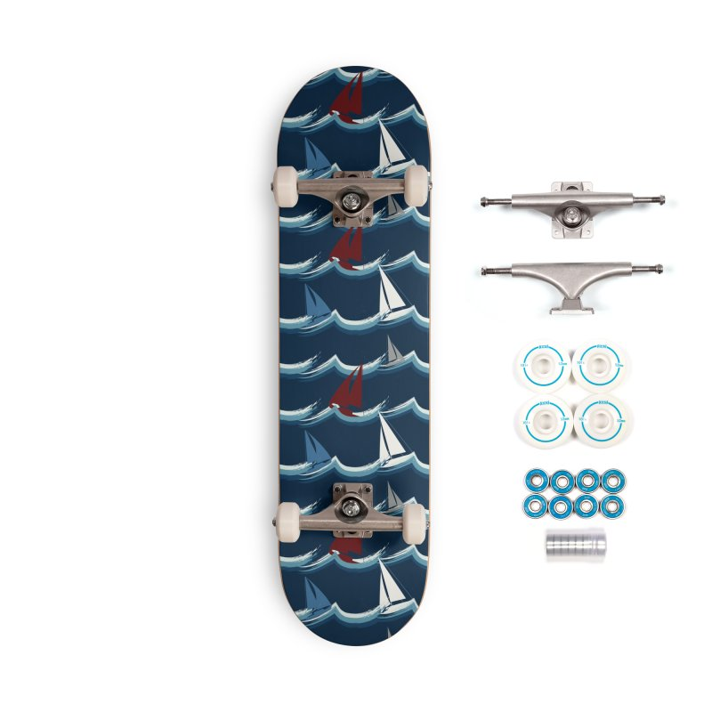 Nautical Sailing Accessories Complete - Basic Skateboard by Svaeth's Artist Shop