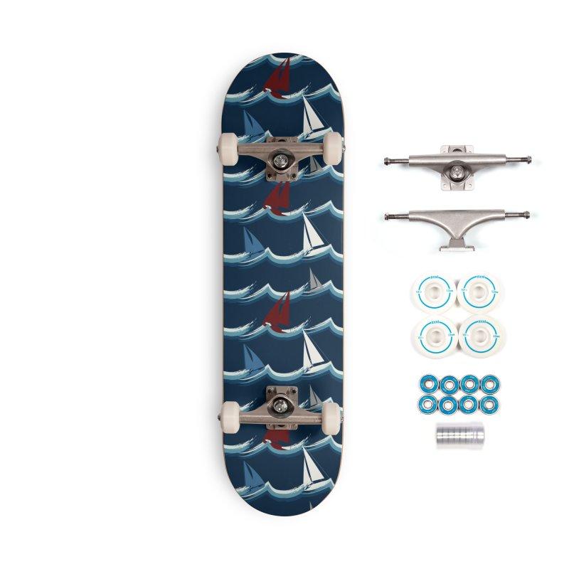 Nautical Sailing Accessories Skateboard by Svaeth's Artist Shop