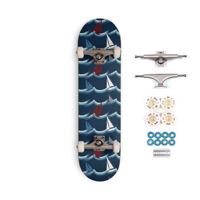 Nautical Sailing Accessories Complete - Premium Skateboard by Svaeth's Artist Shop