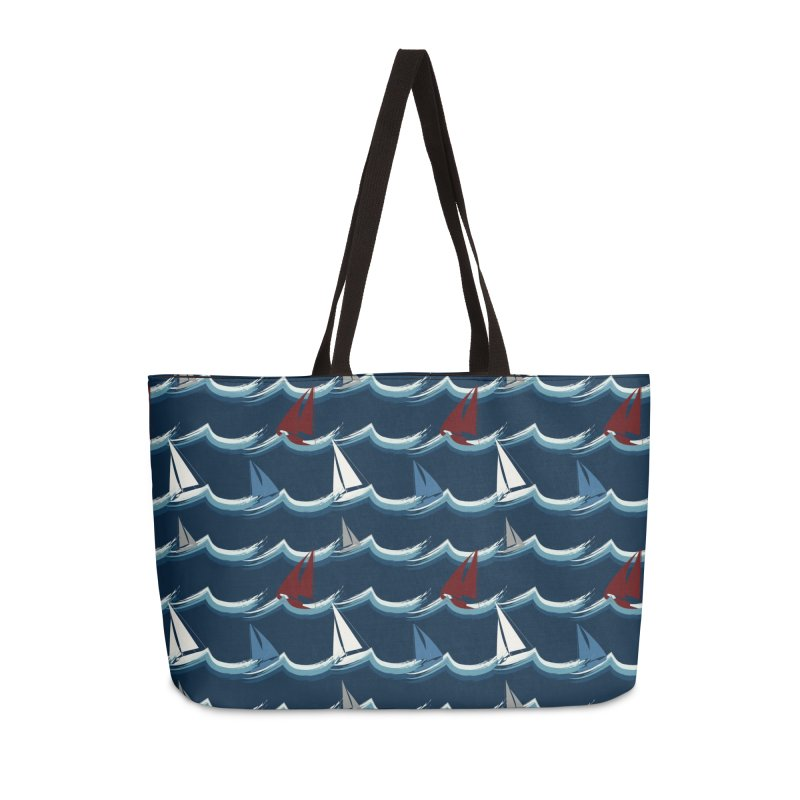 Nautical Sailing Accessories Weekender Bag Bag by Svaeth's Artist Shop