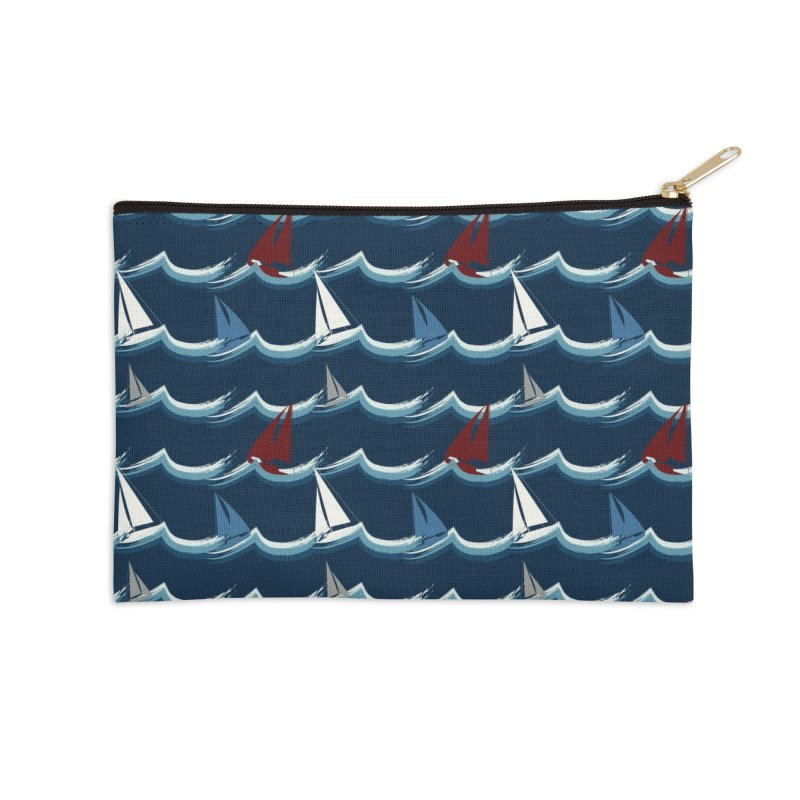 Nautical Sailing Accessories Zip Pouch by Svaeth's Artist Shop