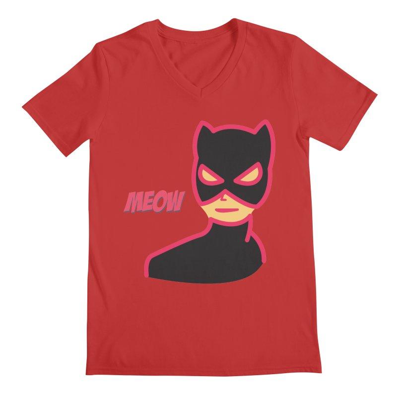 Catwoman Men's V-Neck by Gazzarro Designs