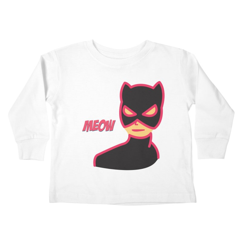Catwoman Kids Toddler Longsleeve T-Shirt by Gazzarro Designs