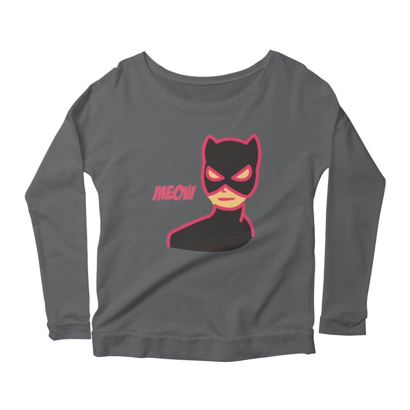 Catwoman Women's Longsleeve Scoopneck  by Gazzarro Designs