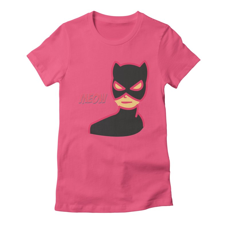 Catwoman Women's Fitted T-Shirt by Gazzarro Designs