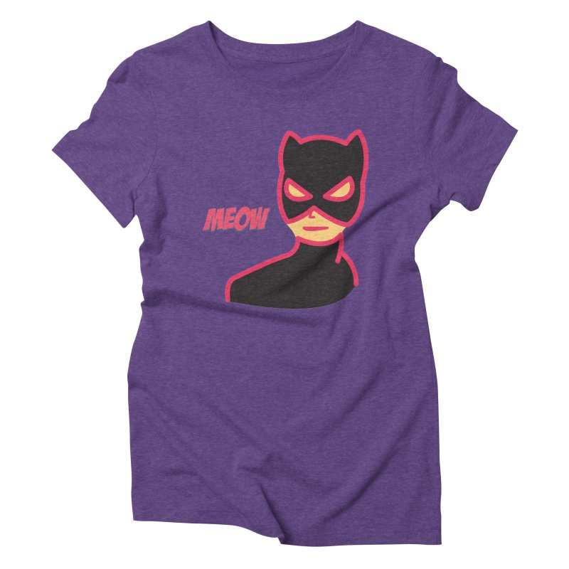 Catwoman Women's Triblend T-Shirt by Gazzarro Designs