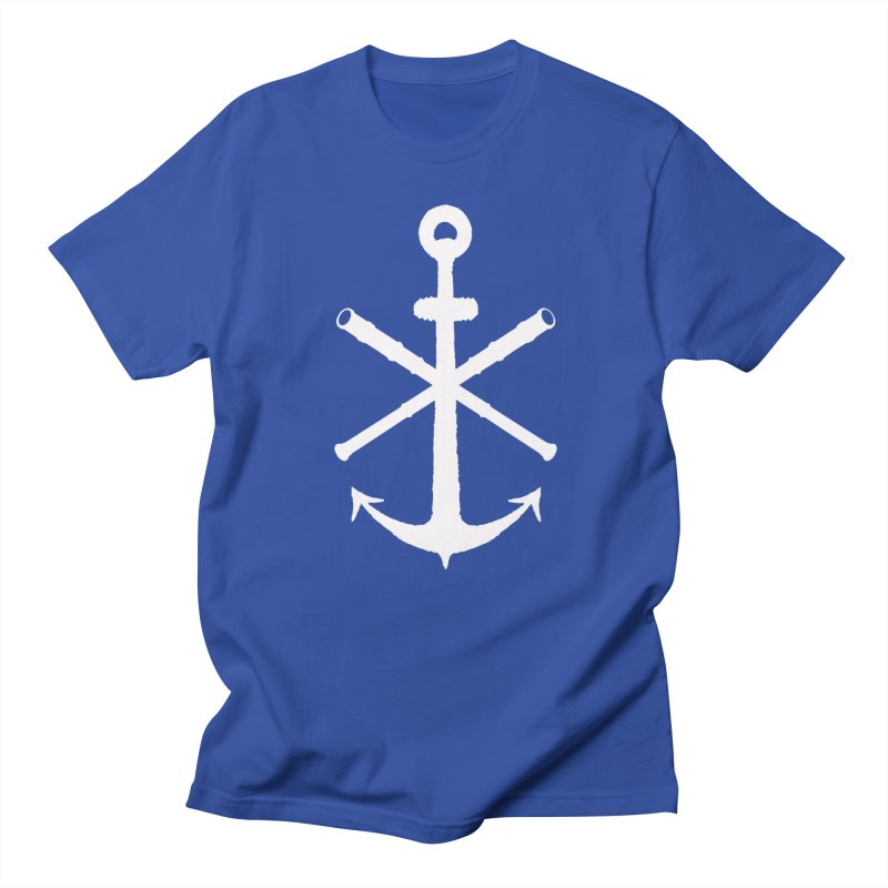 All Ways But Still Oversized Logo - White  in Men's Regular T-Shirt Royal Blue by Sailor James