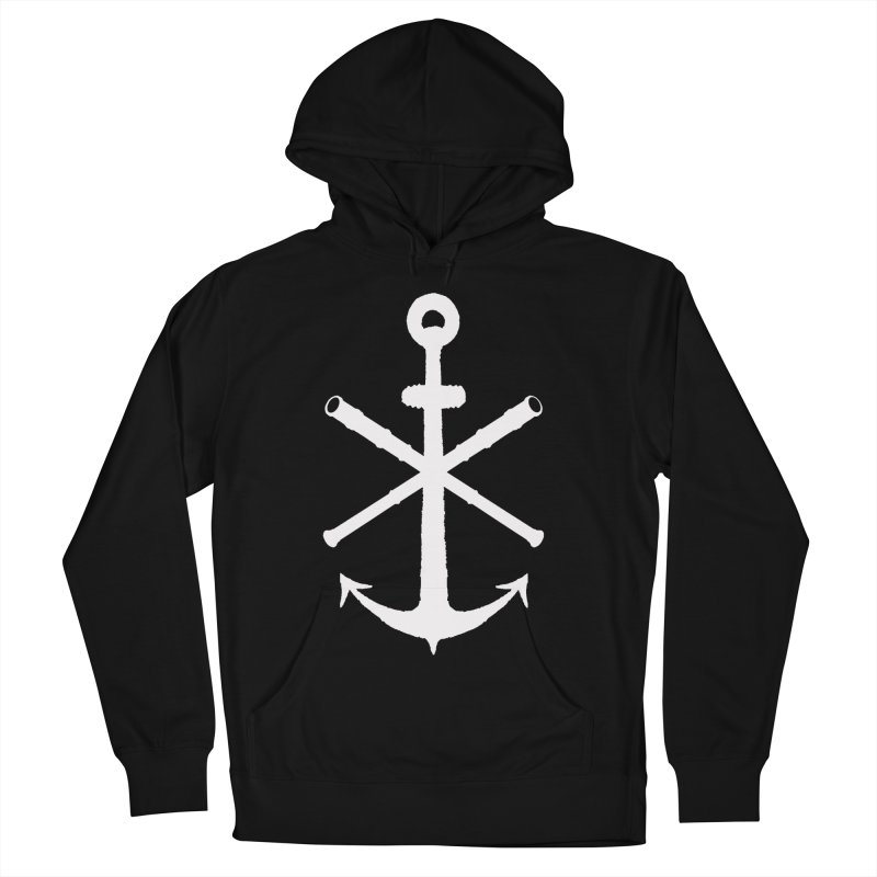 All Ways But Still Oversized Logo - White  Men's French Terry Pullover Hoody by Sailor James