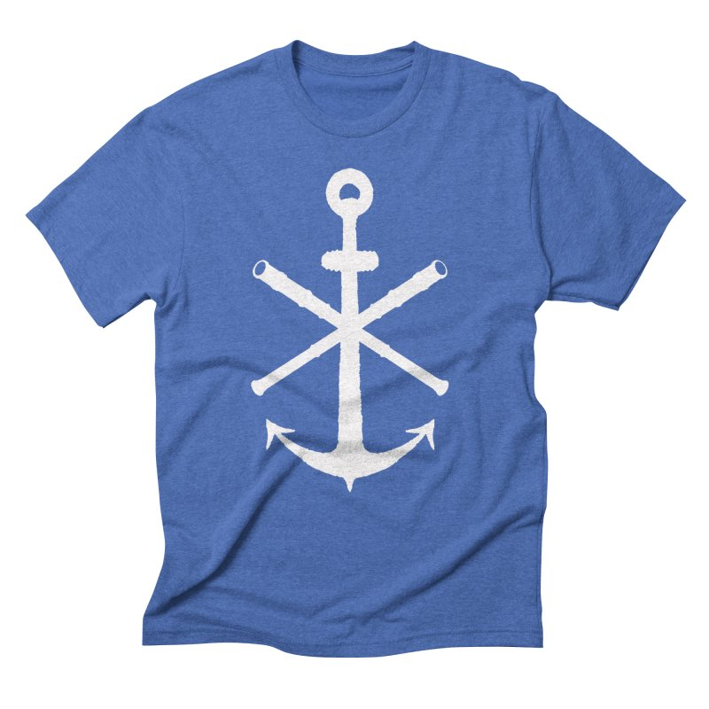 All Ways But Still Oversized Logo - White  Men's Triblend T-Shirt by Sailor James