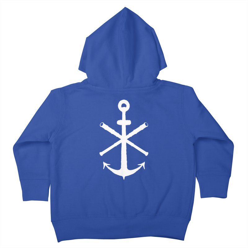All Ways But Still Oversized Logo - White  Kids Toddler Zip-Up Hoody by Sailor James