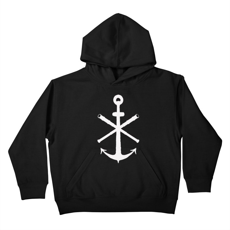 All Ways But Still Oversized Logo - White  Kids Pullover Hoody by Sailor James