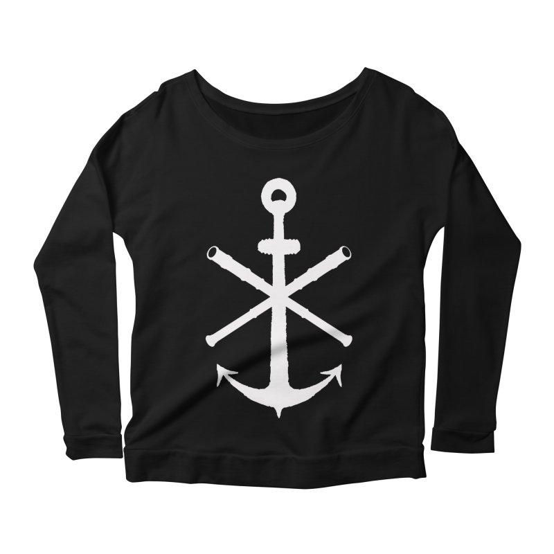All Ways But Still Oversized Logo - White  Women's Scoop Neck Longsleeve T-Shirt by Sailor James