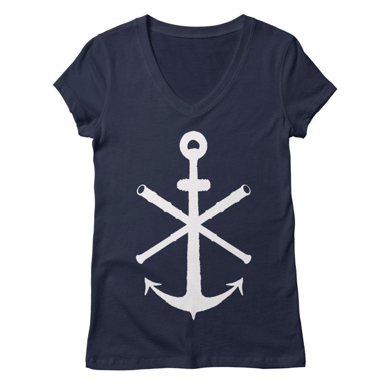 All Ways But Still Oversized Logo - White  Women's Regular V-Neck by Sailor James