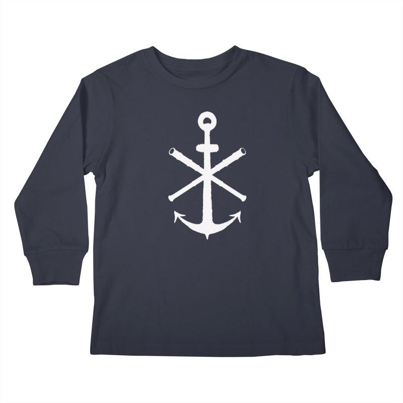 All Ways But Still Oversized Logo - White  Kids Longsleeve T-Shirt by Sailor James