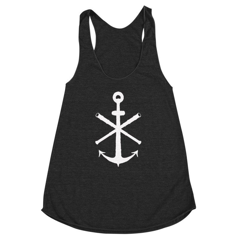 All Ways But Still Oversized Logo - White  Women's Racerback Triblend Tank by Sailor James